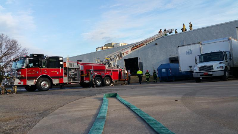 Personnel on the roof.
